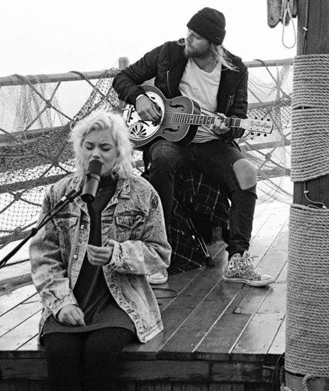 Taya Smith and Joel Houston of Hillsong UNITED recording Oceans aboard a boat on the Sea of Galilee where Jesus called Peter out upon the water. Spring 2016. Joel's hair is officially long again. #tayasmith #joelhouston #hillsongunited
