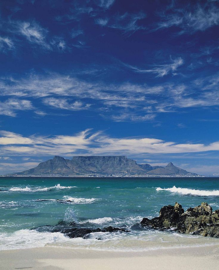 Table Mountain from Bloubergstrand in South Africa