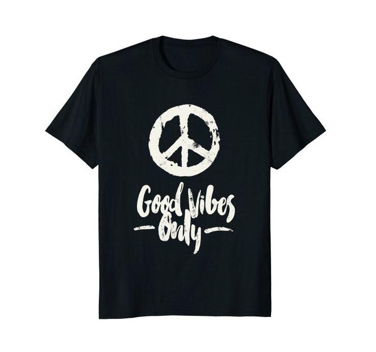 Amazon.com: Good Vibes Only T-shirt - Hippie Symbol T-shirt: Clothing