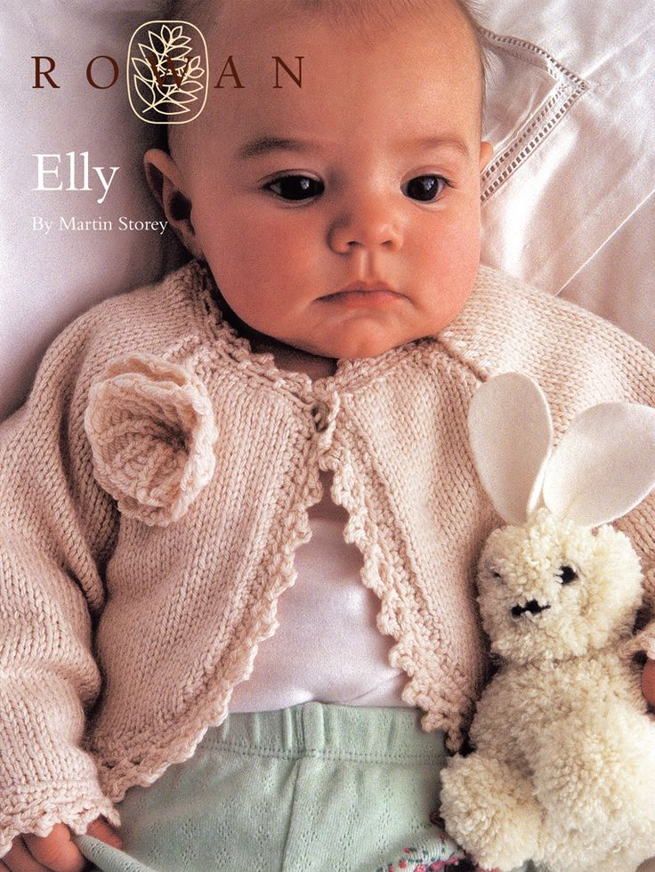 Free Knit Pattern from Rowan Knits - Baby sweater called: Elly