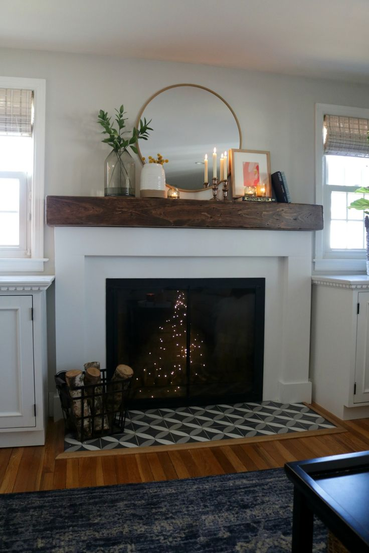 Fireplace Makeover- DIY and Target Decor #fireplace #homedecor #diyideas