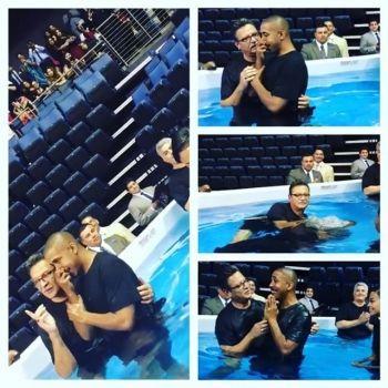 R&B Singer Marques Houston Gets Baptized!!