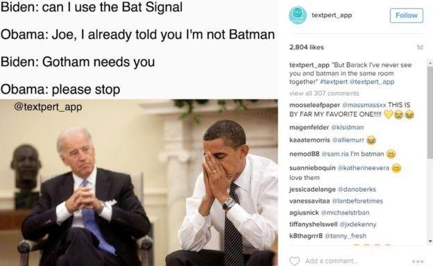 Biden and Obama memes: Jokes on Trump imagined - BBC News