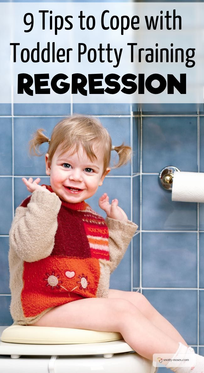 9 Tips To Cope with Toddler Training Regression. Most toddlers hit potty training regression at some stage and it is SO frustrating. Here are some great tips to help you cope with toddler potty training regression.