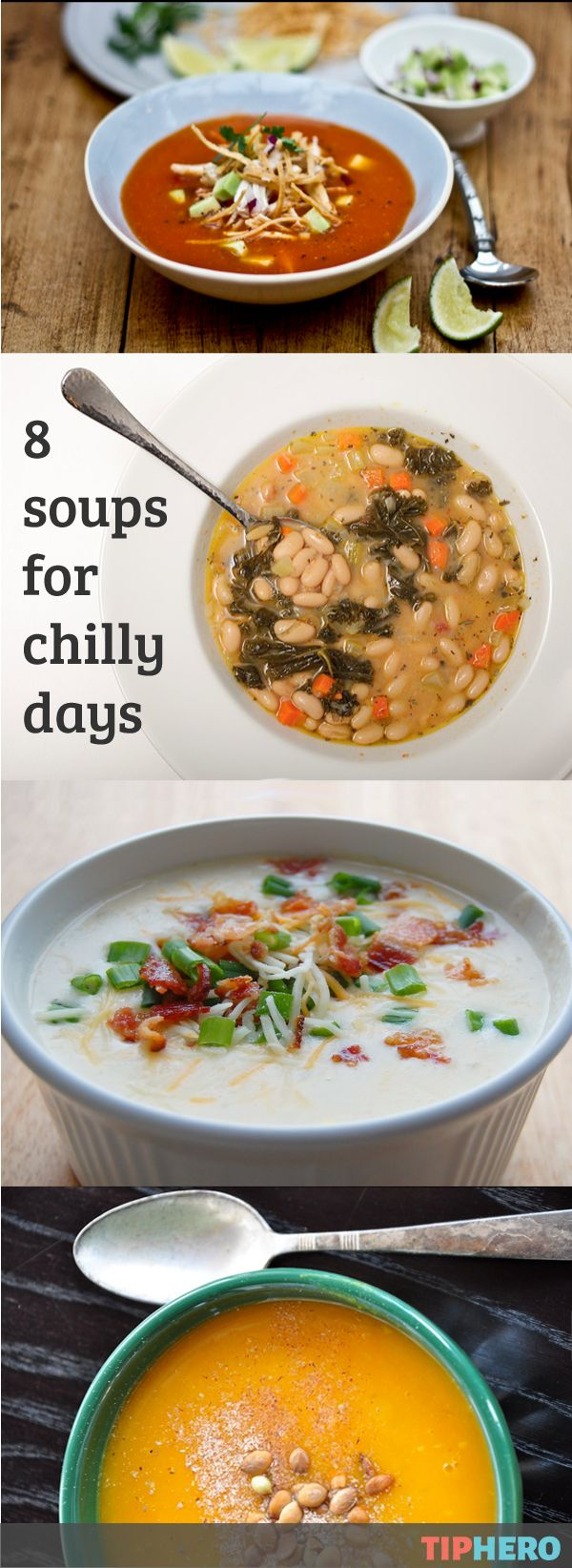 8 Soup Recipes to Warm Up a Chilly Day | Tis' the season for soup! So here's a delicious collection of some of our favorites from the classic chicken noodle to Tuscan bean to pasta fagioli and more!