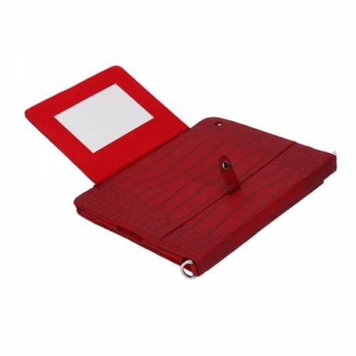 Crocodile  Shoulder Bag  This is a shoulder bag stand case pouch for an apple iPad 2. It is made of high quality faux leather. It's a special design for carrying around your iPad 2 comfortably and without damaging it.