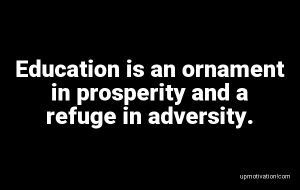 Education is an ornament in image