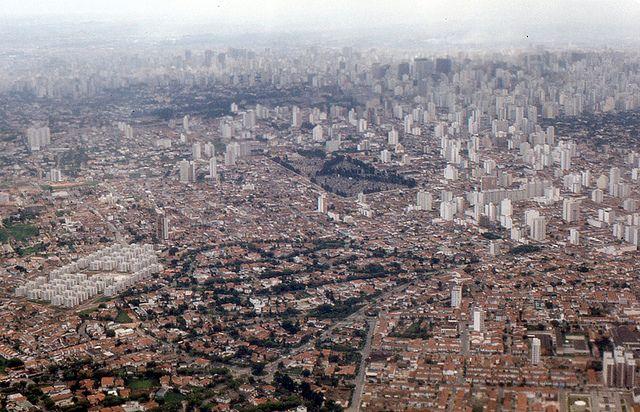 vista aérea de Pinheiros, 1974