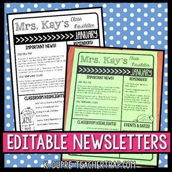 The 25+ best Weekly classroom newsletter ideas on Pinterest - school newsletter