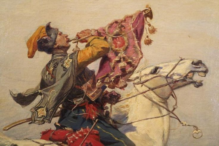 Cossack Trumpeter Sounding a Charge (detail)