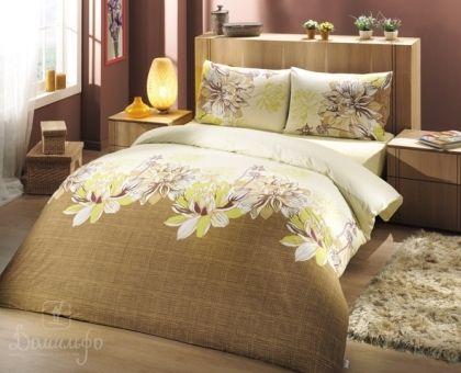 Купить постельное белье ALTINBASAK DESTINA желтое 70х70 1,5-сп от производителя Altinbasak (Турция)
