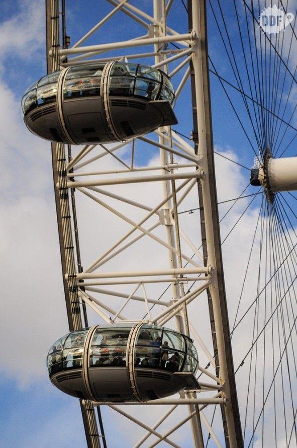 Detalhe na London Eye, a roda gigante que chegou para ficar em Londres.