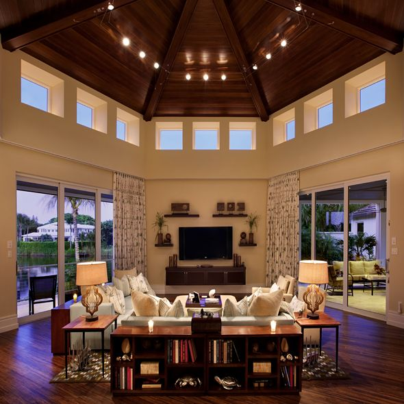 Great Room Lighting: High Windows, Recessed Ceiling Lights, Large