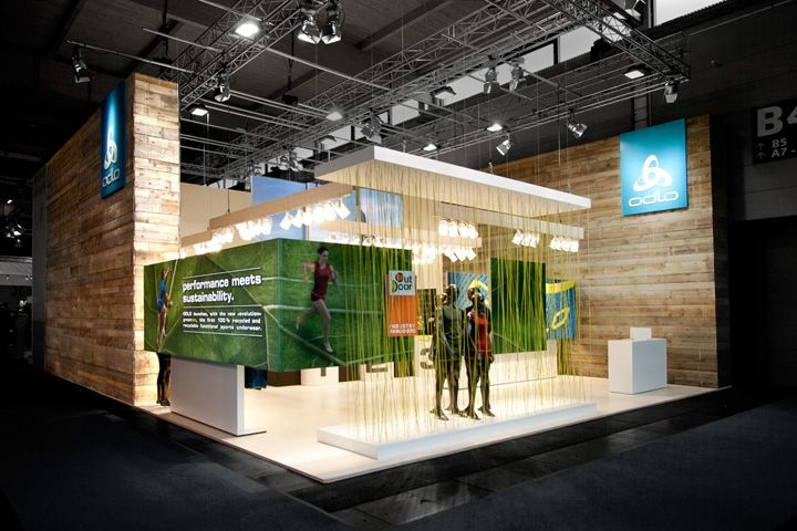 Exhibition Booth Inspiration : Odlo trade fair stand by laborrotwang friedrichshafen