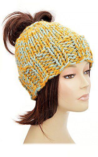 3730e12630432 Ponytail Hat Pattern Knitting Pattern Ponytail Beanie Pattern Beanie With  Ponytail Hole Womens Hat Hole Hat