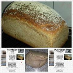 Roggenbrot ♡ Ein leckeres Sauerteig Brot. Wunderbar im Holz Backrahmen gebacken.  Rezept : - 520g lauwarmes Wasser ...