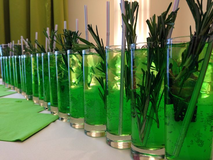 Our bar-manager made perfect St. Patrick's drinks with rosemary