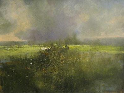 """Early Morning Rain"" Original Watercolor & Gouache Painting by Nashville Artist Darryl Glenn Steele"