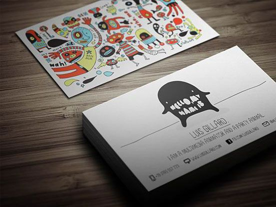multimedia artist business card l1 25 Illustration Based Business Card Designs