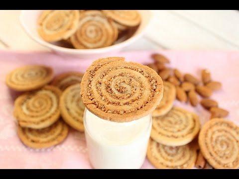 Biscuits spirales aux amandes et cannelle
