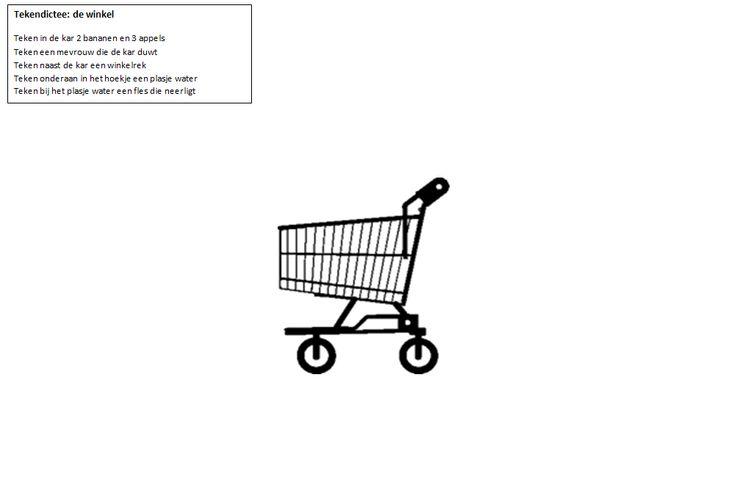 tekendictee: de winkel