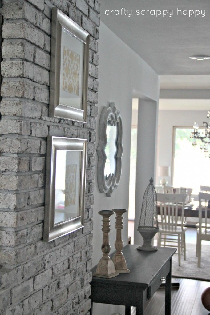 DIY:: Old Outdated to Cottage Chic Brick Wall Tutorial !(This is a Fabulous Tutorial on How to Transform any Brick inside your home)