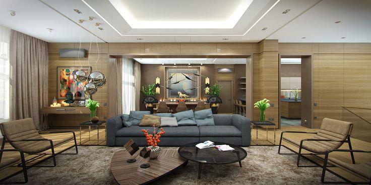 Interior of contemporary house