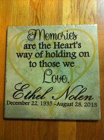 Memorial tile ... love this ... wish I would have seen it before our photo shoot.