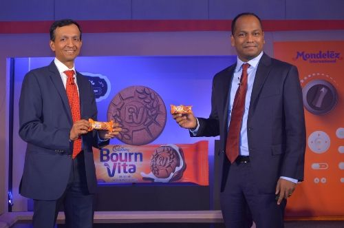 L to R: Chandramouli Venkatesan, MD, Mondelez India Foods Pvt. Ltd. and Chella Pandyan, Associate Director, Marketing, Biscuits India and Kids Fuel AP, Mondelez India Foods Pvt. Ltd. launched its second biscuit brand, Cadbury Bournvita Biscuits in India.