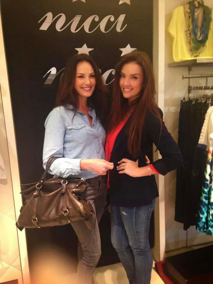 Beautiful Cindy Nell and India Hefrey seen at #niccisummerCT