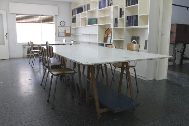 Aula para el master de restauración y reciclaje de mobiliario . #cursos #madrid #reciclaje #restauracion #dorado #barnizado #escuela #master #online #pinturadecorativa