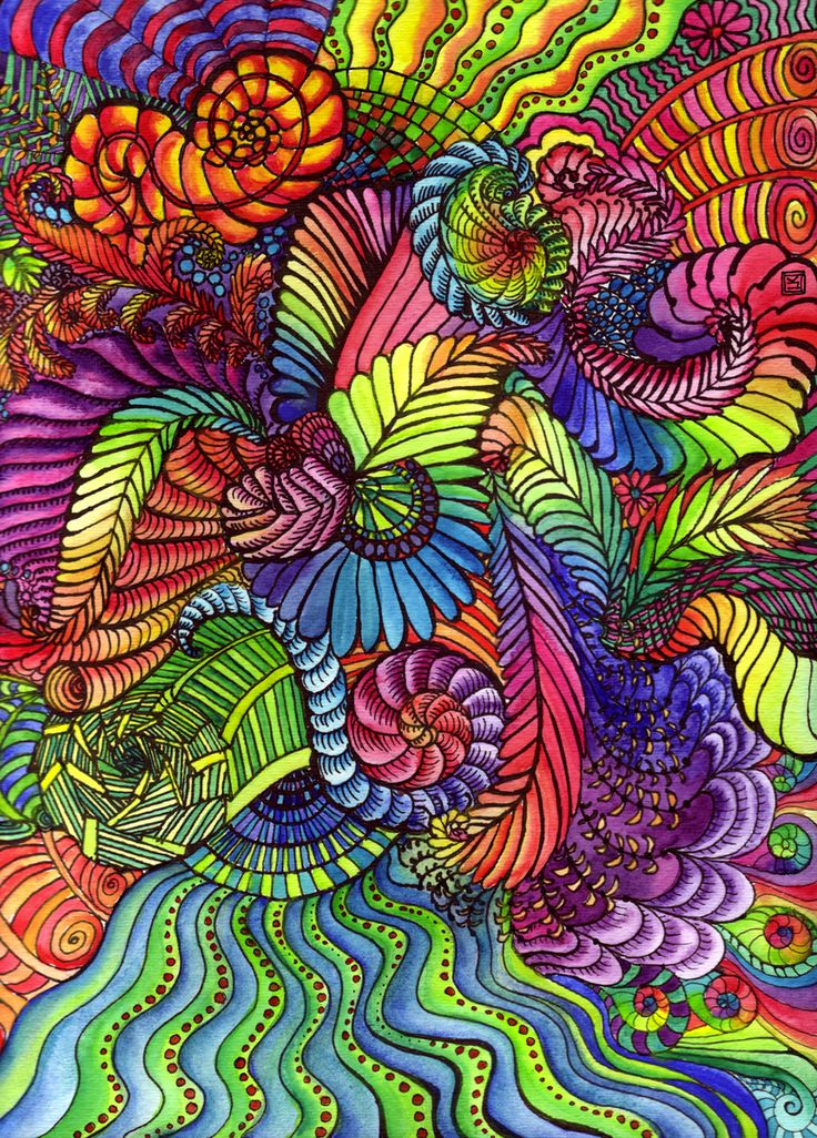 Rainbow Doodles Google Search Zentangles Doodles And