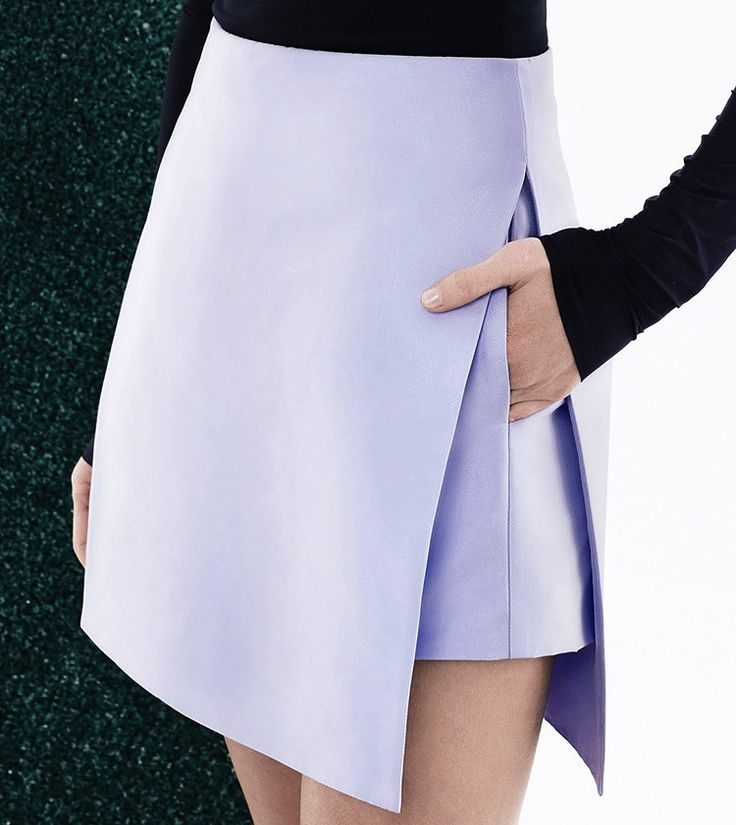Pleated lilac skirt