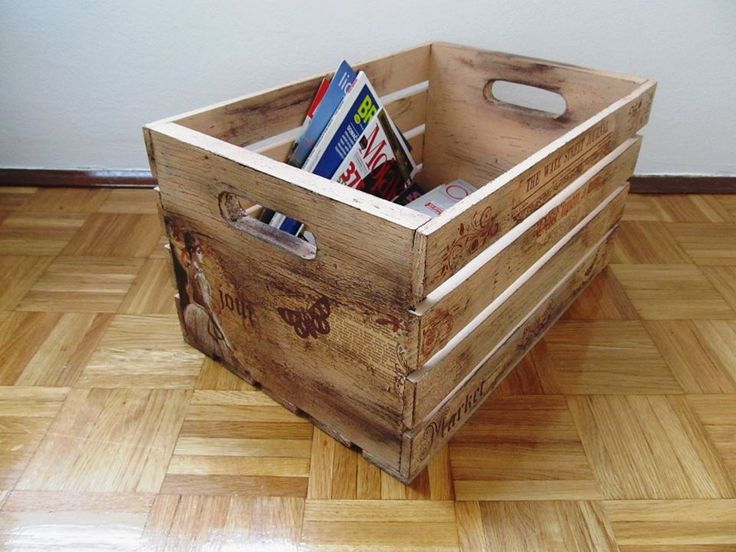 Wooden crates decor newspaper box decorative wooden crates pinterest decor crates and - Decorative wooden crates ...