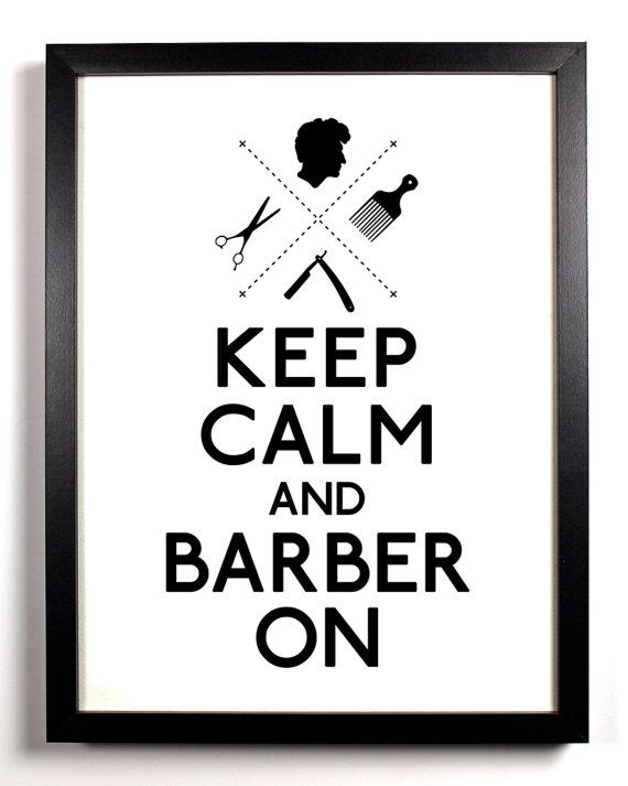 Keep Calm and Barber On straight razor 8 x by KeepCalmAndStayGold, $8.99