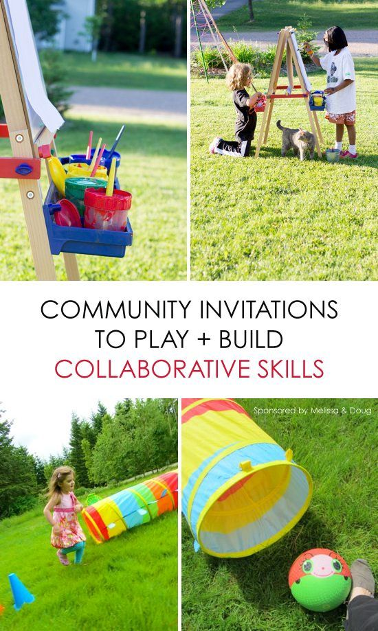 6 Community Invitations to Play + Build Collaborative Skills *love the idea of group invitations to play