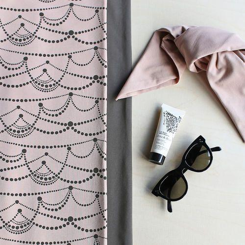 Jersey, Mocha | NOSH Women Autumn 2016 Fabric Collection is now available at en.nosh.fi | NOSH Women syysmalliston 2016 uutuuskankaat saatavilla verkosta nosh.fi
