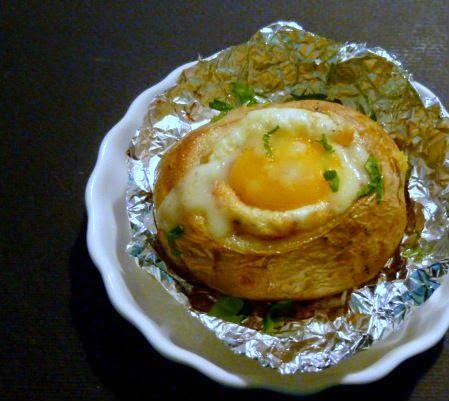 patate con uova al cartoccio