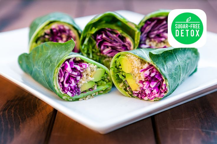 Quinoa Stuffed Hummus Wraps are just one example of the incredible plant-based recipes inside the new Sugar-Free Detox App on iTunes!  Get it here, available for iPhone and iPad devices: http://bit.ly/1twNPpx  The 7 Day Sugar-Free Detox is now Number #1 in the US & Canada under the Food & Drink category!