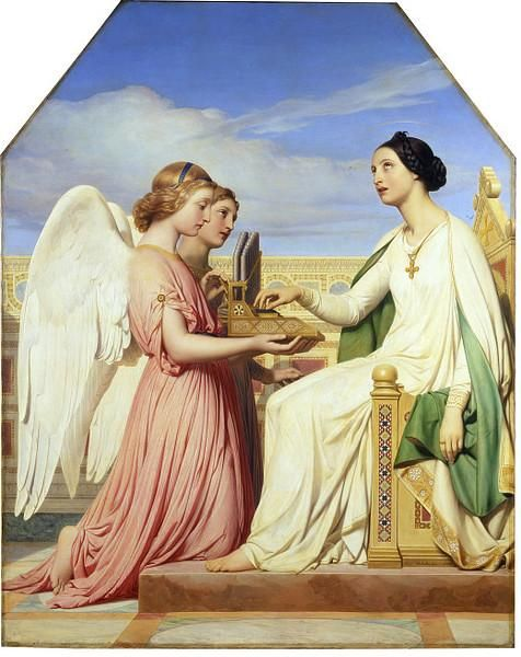 Delaroche, Paul - St Cecilia and the Angels  (phassa)Saint Cecilia, Religious Art, Religious Icons, Angels In Art, Catholic Art, Catholic Saint, Paul Delaroche, St Cecilia, Oil Painting