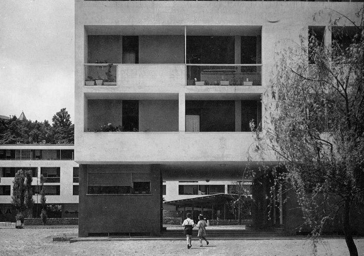 nizzoli e fiocchi - abitazioni per i dipendenti della olivetti, ivrea, italia, 1952