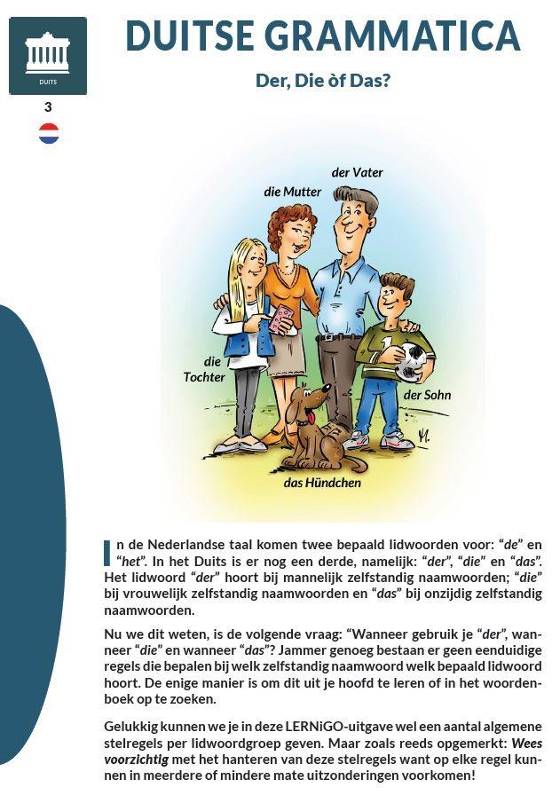 Duitse grammatica - Der, Die of Das?, (c) LERNiGO BV