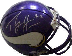 Percy Harvin signed Minnesota Vikings Replica Mini Helmet by Athlon Sports Collectibles. $99.00. On April 25, 2009, Percy Harvin was selected by the Minnesota Vikings 22nd overall in the first round of the 2009 NFL Draft. Percy Harvin is a wide receiver for the Minnesota Vikings. He was voted Offensive Rookie of the Year for the 2009/10 season by the Associated Press. On January 6, the Associated Press announced Harvin's selection as the AP Offensive Rookie of the Year. He ha...