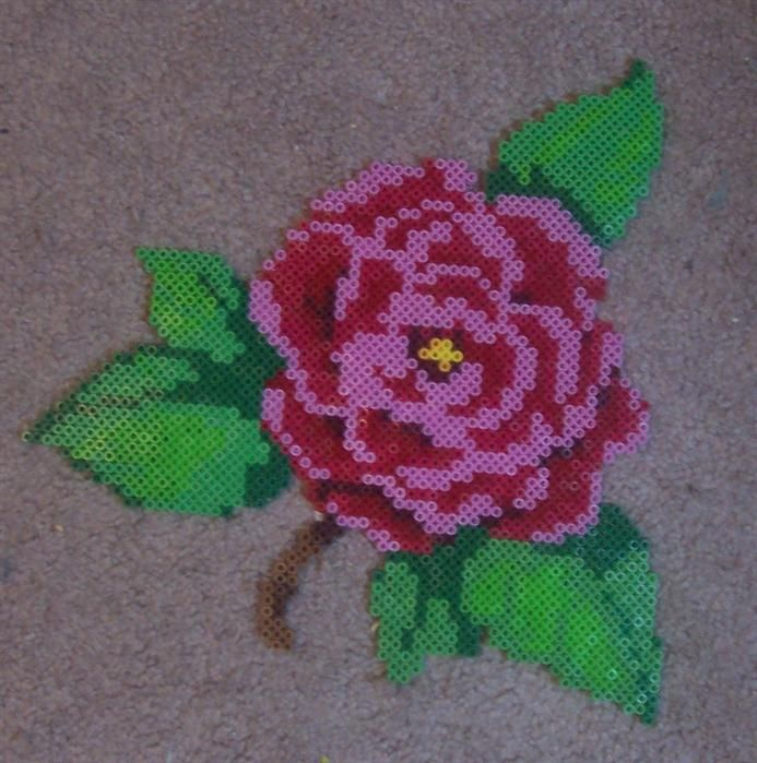 38 best images about perler bead flowers on