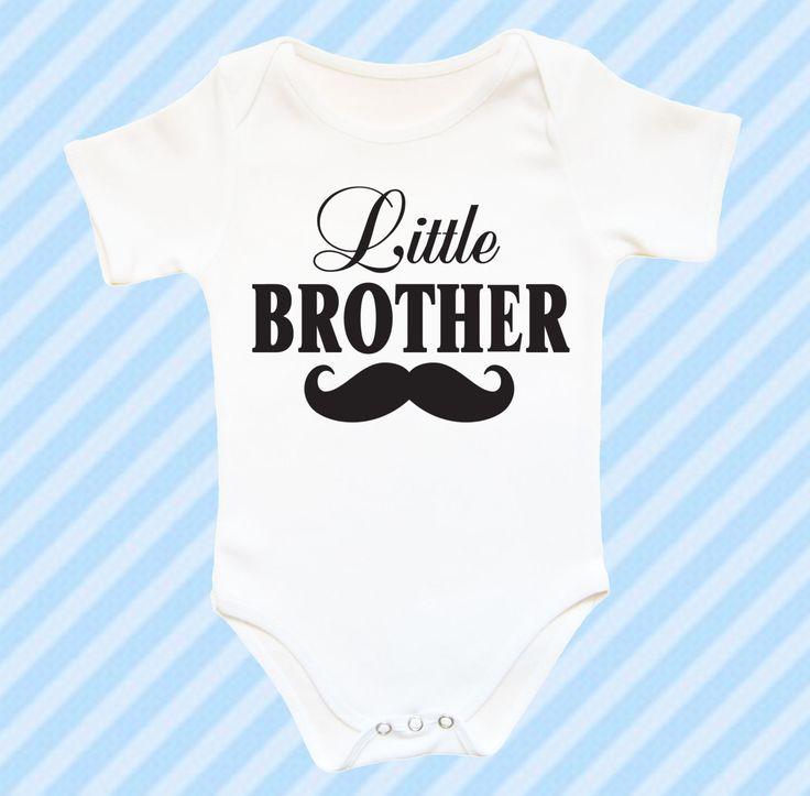 Fratellino bambino Body, vestiti bambino divertente con baffi, regalo ragazzo neonato, bambino, bambino carino ragazzo Body doccia idea by CrazyBabyFashion on Etsy