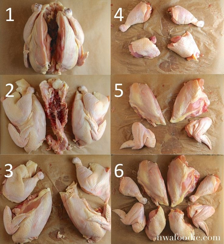 How to cut up a whole chicken #tips #foodie