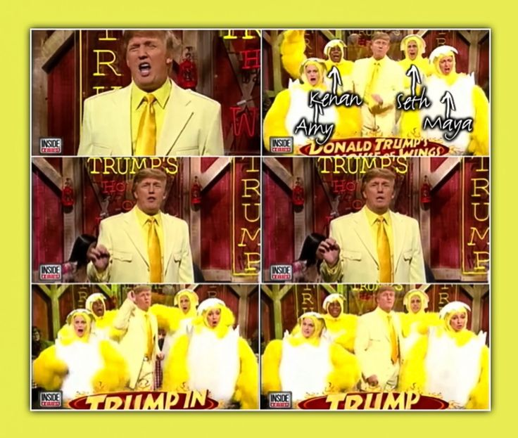 Donald Trump in 'Donald Trump's House of Wings' skit with Amy Poehler, Maya Rudolph, Seth Meyers & Kenan Thompson in 2004 . . .  | https://m.youtube.com/watch?v=YwqklRh2irA