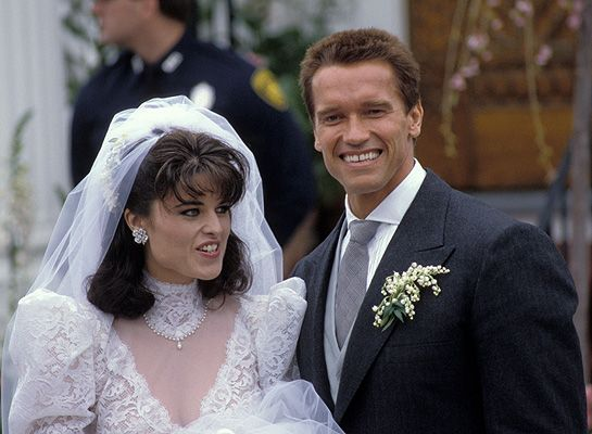 Maria Shriver &  Arnold Schwarzenegger's fairytale wedding on a spring day in 1986 in Cape Cod.