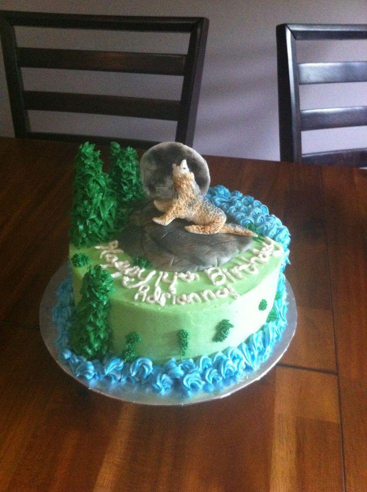 Wolf Birthday Cake Birthday Cakes Pinterest Wolves