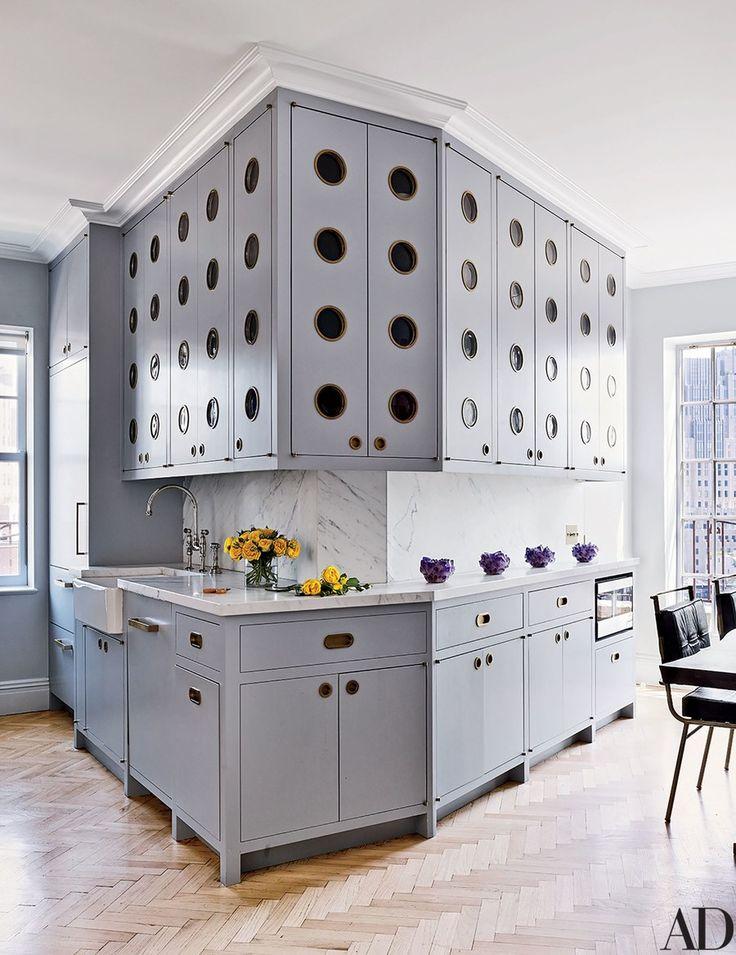 Rafael de c rdenas creates a refined penthouse in greenwich village inspiration cuisine - Peinture d armoire de cuisine ...